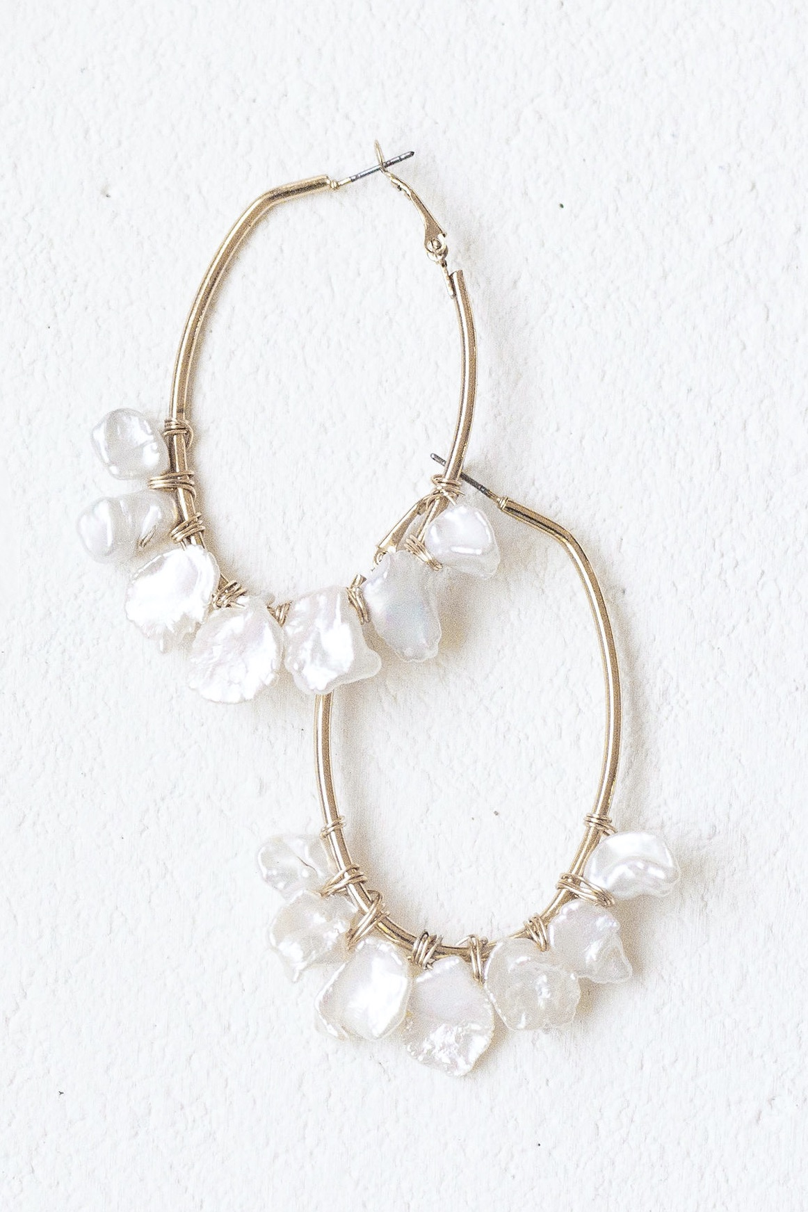 [SELL]A.B.ELLIE[Freshwater Pearl Oblong Hoops]