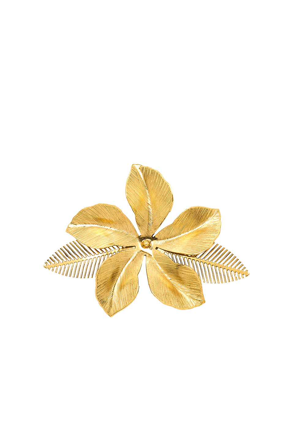 [RENTAL]Jennifer Behr[Gold Hibiscus Barrette]